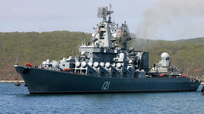 "Missile cruiser ""Moskva"" (RIA Novosti/Vitaliy Ankov)"