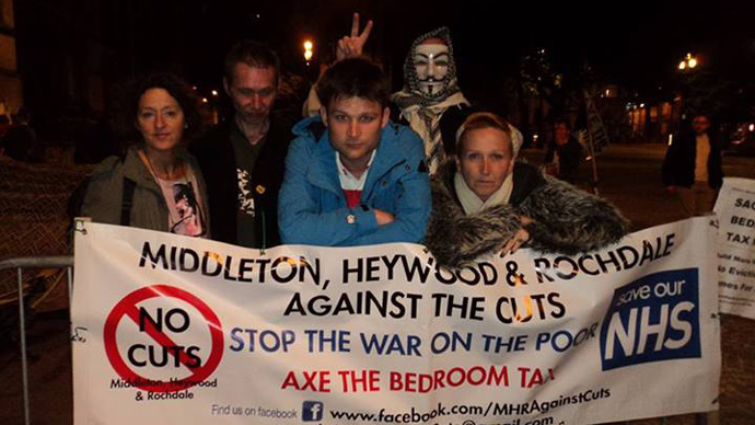 "image from Abolish Bedroom tax or prepare for""Peoples Revolution 2013"" facebook page"