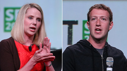 Yahoo! CEO Marissa Mayer and Facebook founder and CEO Mark Zuckerberg (Justin Sullivan/Getty Images/AFP)