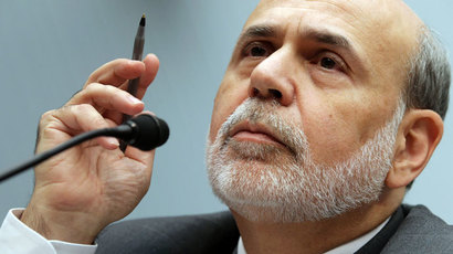 Federal Reserve Chairman Ben Bernanke.(AFP Photo / Chip Somodevilla)