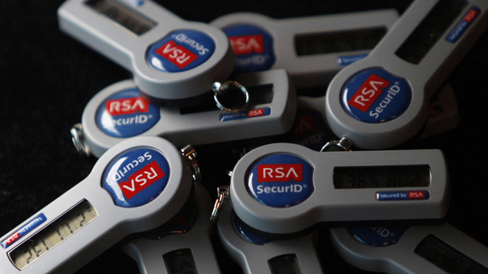 RSA SecureID electronic keys (Reuters/Michael Caronna)