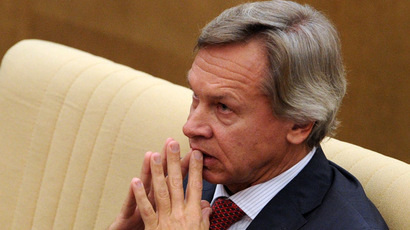 Aleksei Pushkov, chairman, the Duma committee on international affairs (RIA Novosti/Vladimir Fedorenko)
