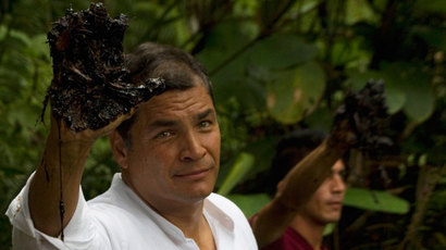 Ecuador's Correa: Obama's exceptionalism talk reminiscent of Nazi rhetoric before WWII