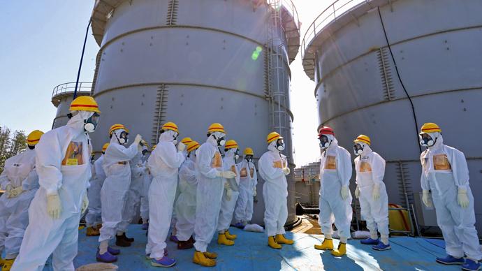 Tsunami-crippled plant in Okuma, Fukushima Prefecture, northeastern Japan (AFP Photo)
