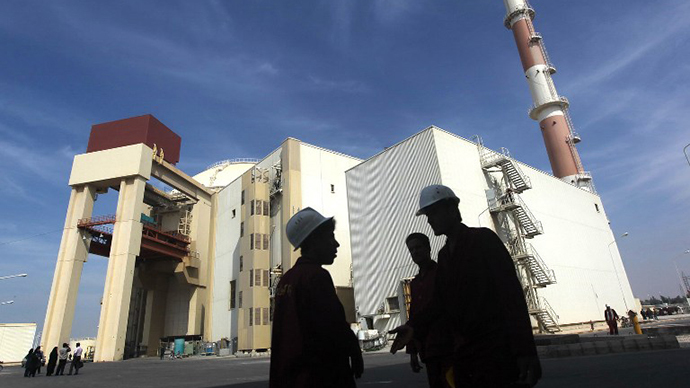 The reactor building at the Russian-built Bushehr nuclear power plant, 1200 kms south of Tehran. (AFP Photo / Majid Asgaripour)