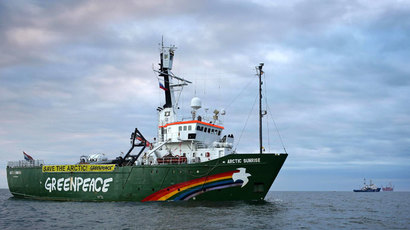 Arctic Sunrise Greenpeace's Arctic protest ship.(AFP Photo / Denis Sinyakov)