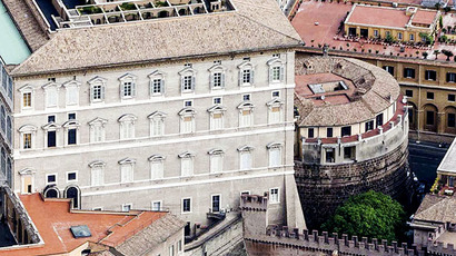 An exterior view of the tower of the Institute for Works of Religion in Vatican City (Reuters)