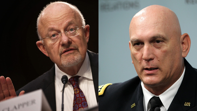Director of National Intelligence James Clapper (L) and U.S. Army Chief of Staff Raymond T. Odierno (R) (AFP Photo / Alex Wong)