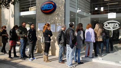 Greeks 40% poorer than in 2008