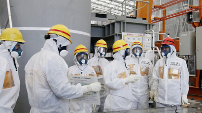 Tokyo Electric Power Co (TEPCO) Fukushima Dai-ichi nuclear power plant at Okuma town in Fukushima prefecture (AFP Photo)