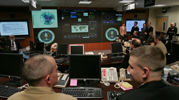 The Threat Operations Center inside the National Security Agency (NSA) (AFP Photo)