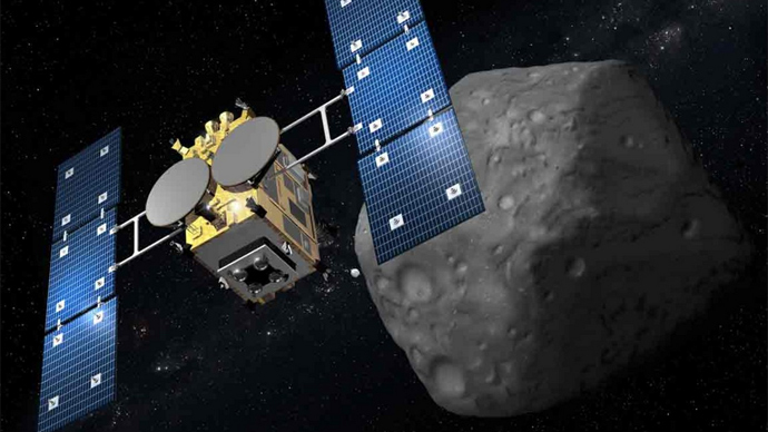 In 2013 the Japanese Aerospace Exploration Agency are sending the space probe, Hayabusa 2, on a long journey to an asteroid named 1999 JU3 (Image by Japan Aerospace Exploration Agency)
