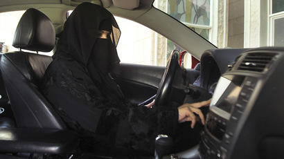 A woman drives a car in Saudi Arabia (Reuters/Faisal Al Nasser)
