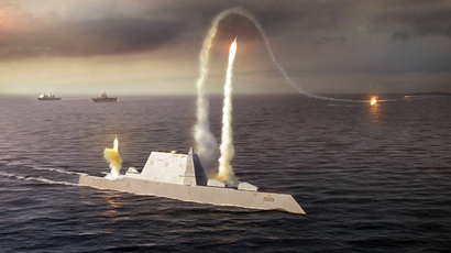 USS Zumwalt (U.S. Navy photo illustration)