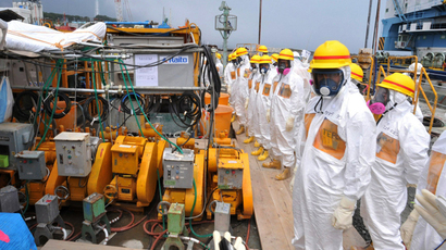 A facility to prevent seeping of contamination water into the sea at Tokyo Electric Power's (TEPCO) Fukushima Dai-ichi nuclear plant in Okuma, Fukushima prefecture (AFP Photo)