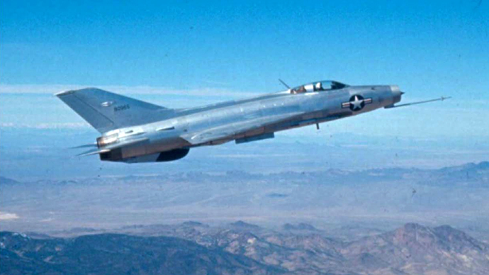A MiG 21 in US air force markings, taken from declassified CIA documents