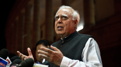 Indian Minister of Communications and Information Technology and Congress Party MP Kapil Sibal  (AFP Photo)