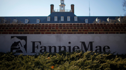 A sign in front of the Fannie Mae headquarters in Washington (Reuters / Molly Riley)