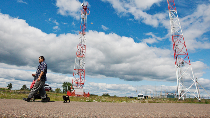 Ukrainian town dismantles cell sites over cancer fears