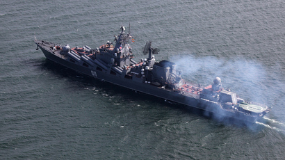 Russian battleships in the English Channel, say they're training