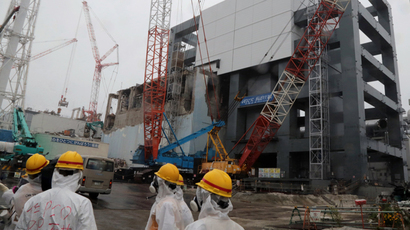 4 reactor building at TEPCO's Fukushima Dai-ichi nuclear plant in the town of Okuma, Fukushima prefecture in Japan (AFP Photo)