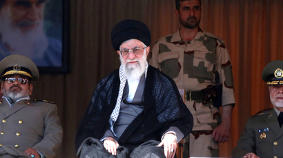 A handout picture released by the official website of Iran's supreme leader, Ayatollah Ali Khamenei (AFP Photo)