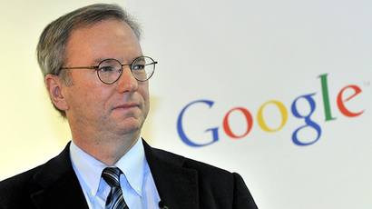 Google executive chairman Eric Schmidt (AFP Photo / Jung Yeon-Je)