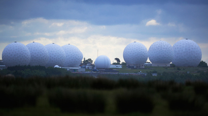 RAF Menwith Hill base, which provides communications and intelligence support services to the United Kingdom and the U.S. is pictured near Harrogate, northern England (Reuters)