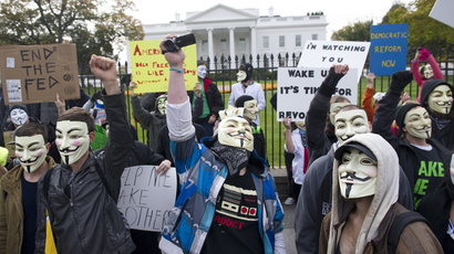 'The Corrupt Fear Us!' Massive Anonymous 'Million Mask March' as it happened (PHOTOS, VIDEOS)