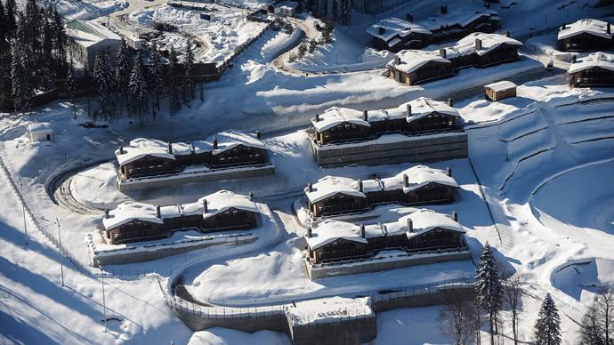 An Olympic village at the Laura ski and biathlon center, Sochi (RIA Novosti / Nina Zotina)