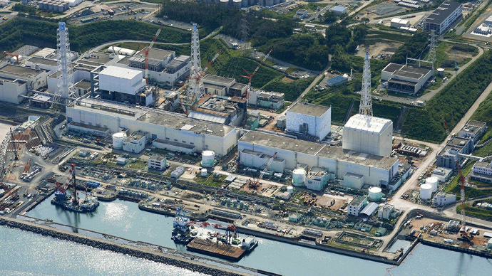 An aerial view shows the Tokyo Electric Power Co.'s (TEPCO) tsunami-crippled Fukushima Daiichi nuclear power plant (Reuters/Kyodo)