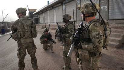 US troops under Afghanistan's International Security Assistance Force (ISAF) patrol in Arghandab district in southern Afghanistan (AFP Photo / Romeo Gacad)
