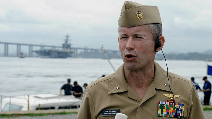 Vice Adm. Ted Branch, director of naval intelligence (AFP Photo)