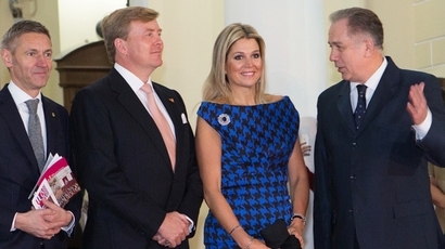 King Willem-Alexander of The Netherlands (2-L) and Queen Maxima (RIA Novosti /  Vitaliy Belousov)