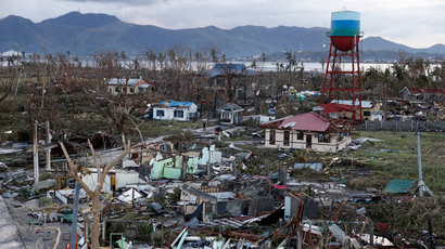A view of destroyed houses after super Typhoon Haiyan battered Tacloban city in central Philippines November 9, 2013 (Reuters / Erik De Castro)