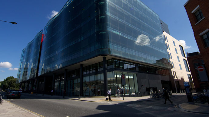 A picture shows the offices of the Guardian newspaper in central London (AFP Photo/Andrew Cowie)