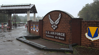 The entrance to the US Airbase is pictured in Ramstein, southern German (AFP Photo / Daniel Roland)