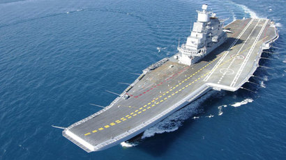 INS Vikramaditya during sea trails (Photo: Indian Navy)
