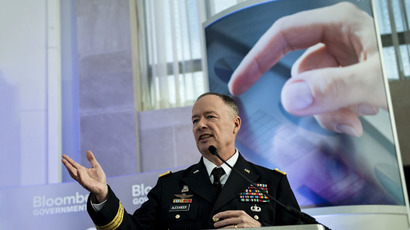 General Keith Alexander, director of the National Security Agency and commander of the US Cyber Command (AFP Photo / Brendan Smialowski)