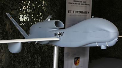 A model of the 'EuroHawk' unmanned aerial vehicle (UAV) (Reuters/Wolfgang Rattay)