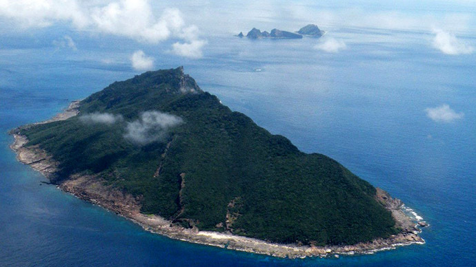 This aerial shot taken on September 15, 2010 shows the disputed islands known as Senkaku in Japan and Diaoyu in China in the East China Sea. (AFP Photo/Jiji Press)