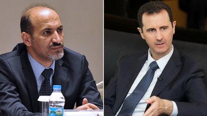 Syrian National Council (SNC) Ahmad Jarba, Syrian president Bashar al-Assad.(AFP Photo / Ozan Kose /SANA)