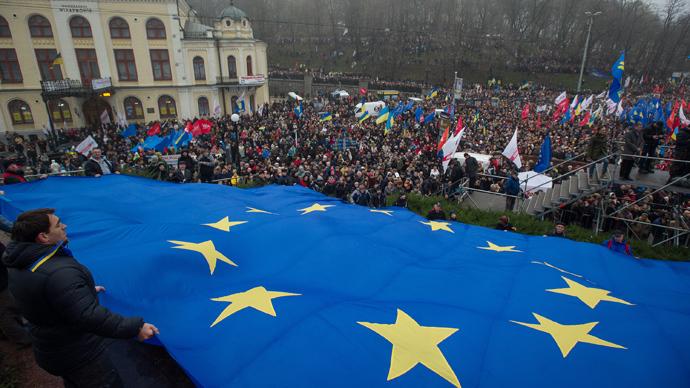 Image result for Protest Ukraina Eeropean union