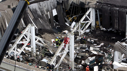 A supermarket collapse killed 54 in the capital Riga (RIA Novosti)