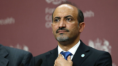 The president of the Syrian National Coalition, Ahmad Jarba (AFP Photo / Suzanne Plunkett)
