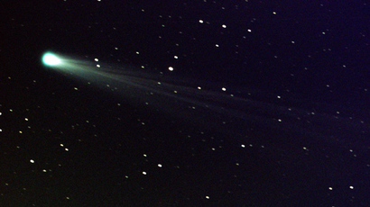 Comet ISON is pictured in this November 19, 2013 handout photo by NASA, taken using a 14-inch telescope located at the Marshall Space Flight Center at 6:10 a.m. EST with a three-minue exposure (Reuters / Aaron Kingery)