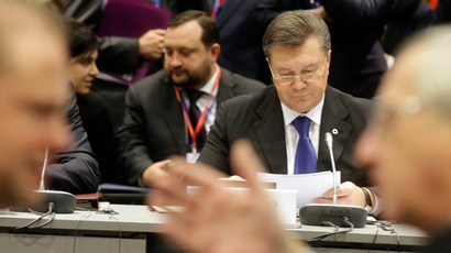 Ukraine's President Viktor Yanukovich attends the EU Eastern Partnership Summit in Vilnius November 29, 2013 (Reuters / Ints Kalnins)
