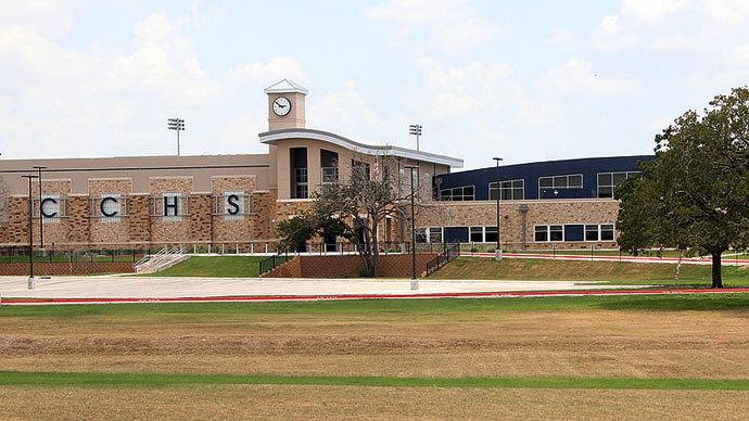 Cedar Creek High School in Cedar Creek.(Photo by Larry D. Moore)