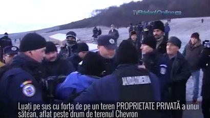 Anti-fracking clashes in Romania as activists break into Chevron site (PHOTOS, VIDEO)