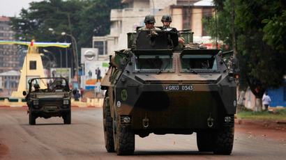 French troops patrol in an armored vehicle in Bangui, Central African Republic, December 6, 2013. (Reuters / Emmanuel Braun)
